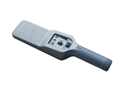 detector: metal detector on white background