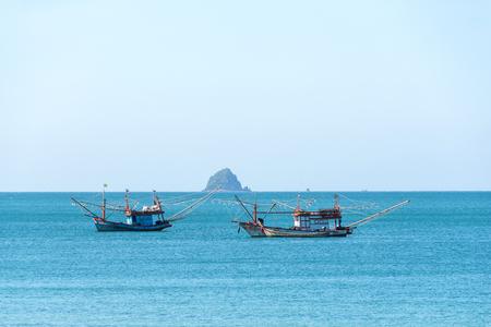 Fishing boat in Andaman Sea,Krabi Province, Thailand