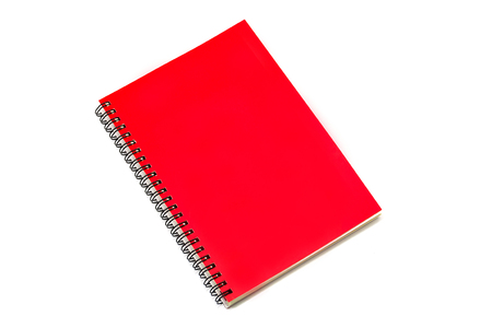 Red book isolated on white background.