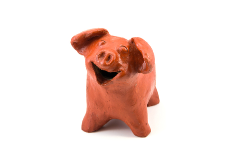 Smile Pig Baked Clay Doll