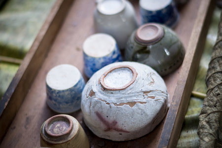 vintage traditional Chinese bowl tea
