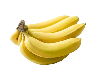 Bunch of bananas on ground
