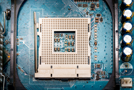 Mainboard with open cpu socket