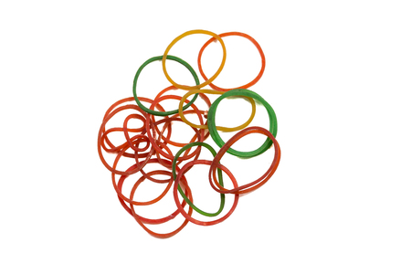 Rubber band Circle on white background