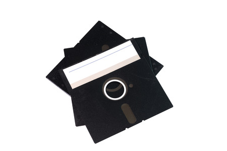 floppy disk with label isolated