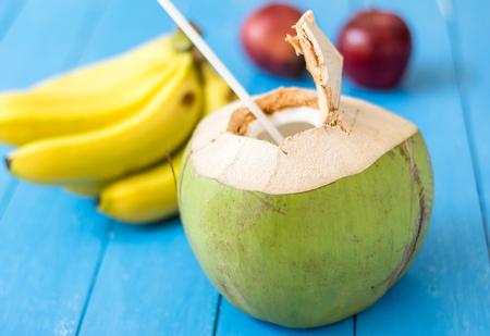 fresh coconut fruits and Banana