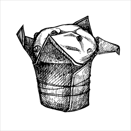 Hand drawn vector illustration - Sweet cake.