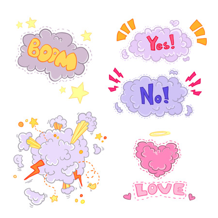 love blast: Boom comic book explosion,  illustration. Super set