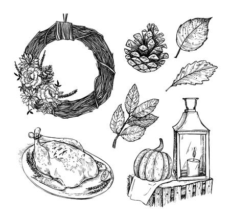 手描きのベクター グラフィック - ホーム スイート ホーム。招待状やグリーティング カード、引用符、ブログ、ポスターなどの要素をデザインしま