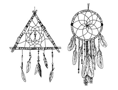 Atrapasueños Espíritu Libre Magia Vector Illustration Eps 10