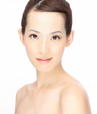 Close-up Portr�t der jungen asiatischen Frau Lizenzfreie Bilder