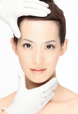 Close-up-Portr�t der jungen asiatischen Frau
