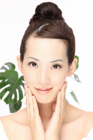 Close-up Portr�t der jungen asiatischen weiblichen