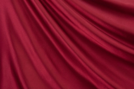 sleek: Drape of beautiful red satin Stock Photo