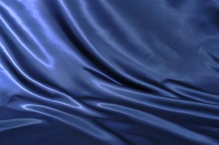silk cloth: Liscio elegante seta blu pu� utilizzare come sfondo Archivio Fotografico
