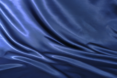 Smooth elegant blue silk can use as background photo