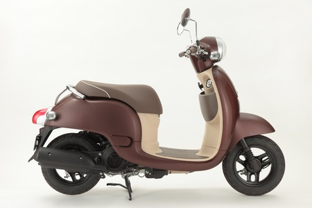mopeds: Brown Scooter with white background