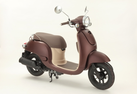 Brown Scooter with white background Stock Photo - 15552160