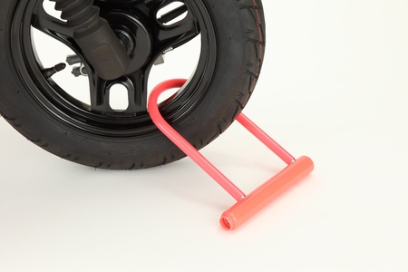 mini bike: Key attached to a motorcycle tire