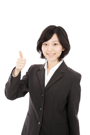 Businessman thumbs young Japanese women Stock Photo - 18024984