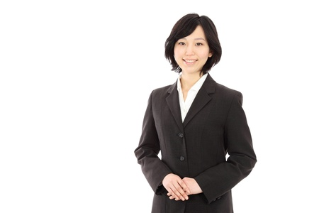 Beautiful Young Asian women link hands in white background