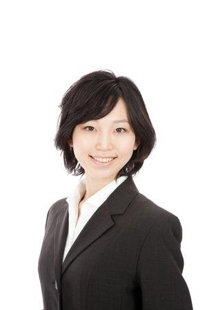 secretarial: Japanese young businesswoman smiling