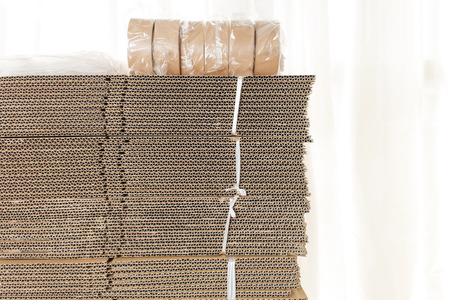 bundling: Cardboard a lot of stacked