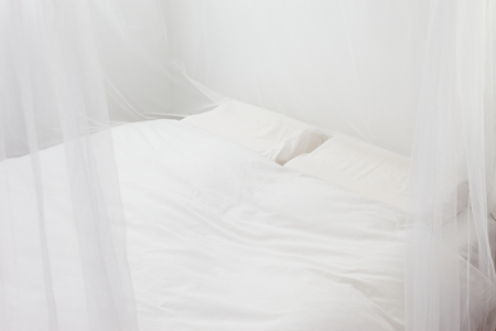 canopy: Bedroom of the white race Stock Photo