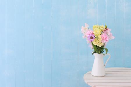 Blue background Flower Arrangement