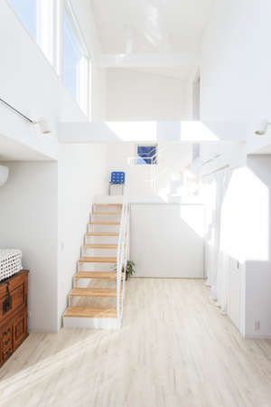 New house with beautiful large interior with vaulted ceiling