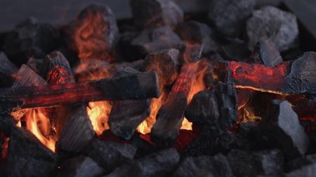 fire brick: Fireplace burning. Warm cozy burning fire in a brick fireplace close up. Cozy background
