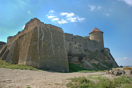 Medieval fortress Akkerman on the Dniester estuary. Belgorod Dnestrovsky, Odessa region, Ukraine.