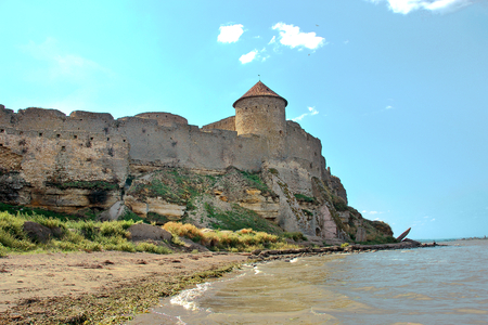 The remains of the Akkerman Fortress overlooking the on the Dniester estuary leading to the Black Sea, Belgorod-Dnestrovsky, Ukraine. Zdjęcie Seryjne