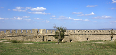 Walls of the medieval castle Ackerman. Belgorod Dnestrovsky, Odessa region, Ukraine