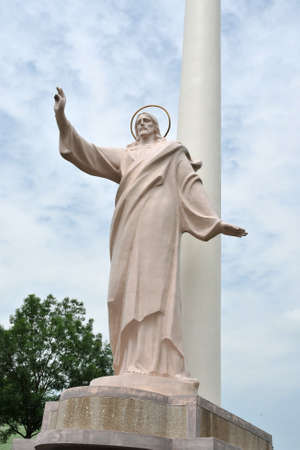Christianity symbol. Statue of the Lord Jesus Christ