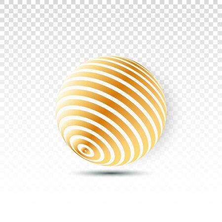 Disco ball isolated illustration. Night Club party light element. Bright mirror golden ball design for disco dance club. Vector Illustratie