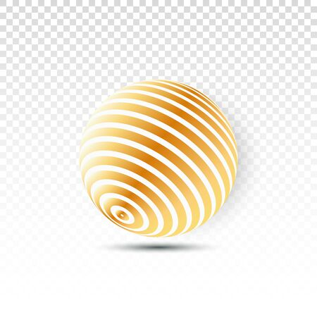 Ilustración aislada de bola de discoteca. Elemento de luz de fiesta Night Club. Diseño de bola de oro espejo brillante para discoteca. Ilustración de vector