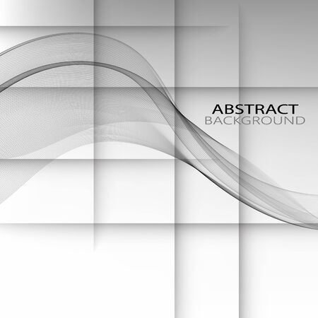 Elegant speed futuristic high-tech swoosh wave stream background. Mild smoke pattern abstract smooth gray modern soft layout. Vector illustration