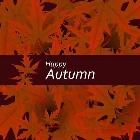 Maple leaves vector, autumn foliage on transparent background. Canadian symbol maple red orange dry autumn leaves.