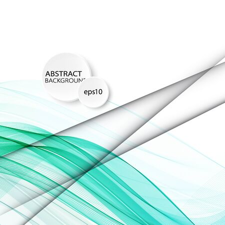 abstract blue business technology colorful wave vector background Illustration