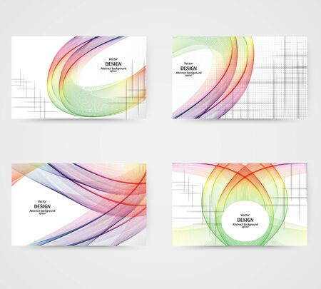 Abstract colorful background with waves, vector illustration Waveform