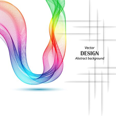 Abstract colorful background with wave, vector illustration Waveform Illustration