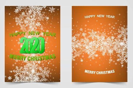 Set of winter christmas banners Vector illustration Stock Illustratie