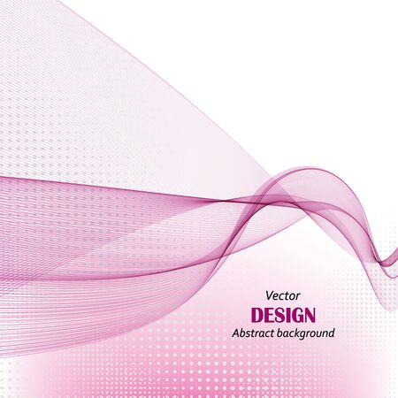 Vector abstract background with lilac wave. Background for presentations, business cards, flyers.