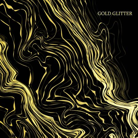 Abstract background of luxury gold lines vector black 矢量图像