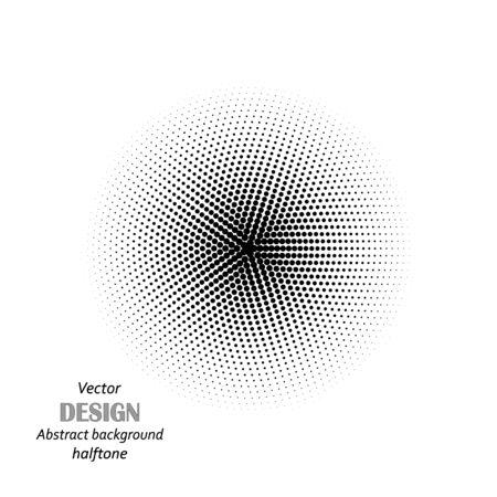 Circle halftone pattern texture. Monochrome halftone dots.Halftone dots in circle. eps10