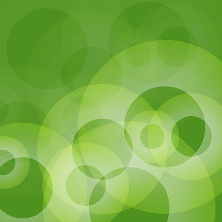 Abstract shapes vector background green bubbles circle eps10  イラスト・ベクター素材