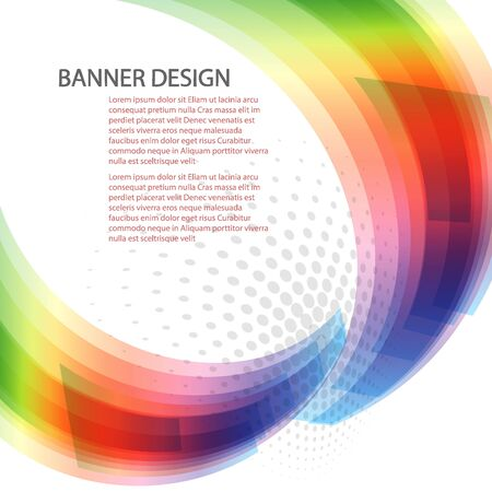 Colorful spectrum background, rainbow abstract eps10 vector