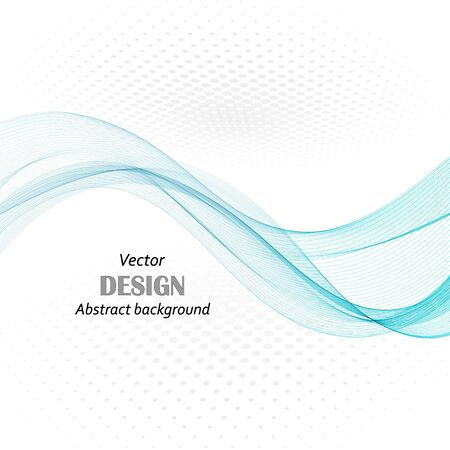 abstract blue business technology colorful wave vector background eps10