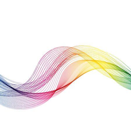 Vector Abstract smoky waves background. Template brochure design Vecteurs